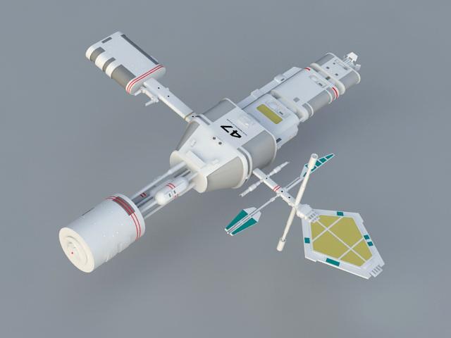 Starfleet Subspace Relay Station 3d rendering