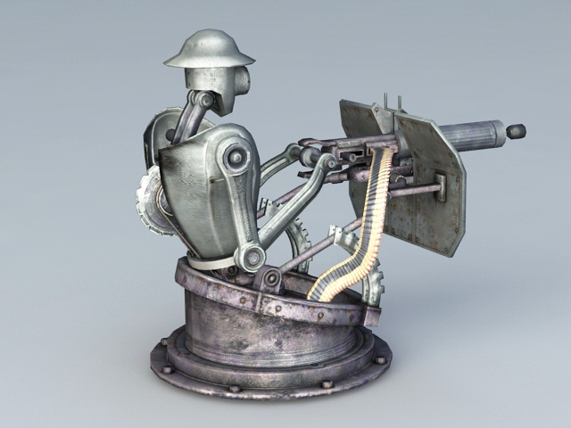 Automatic Turret 3d rendering