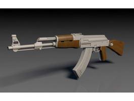AK-47 Rifle 3d model preview