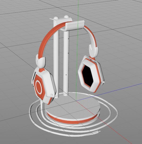Headphone Series 3d rendering