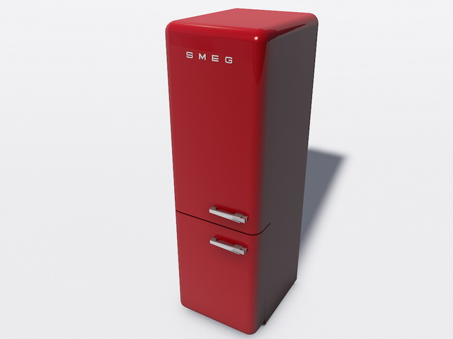 Smeg Refrigerator Freezer 3d rendering
