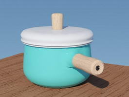 Ceramic Saucepan 3d preview