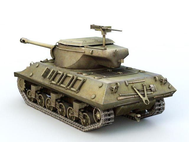 M36 Tank Destroyer 3d rendering