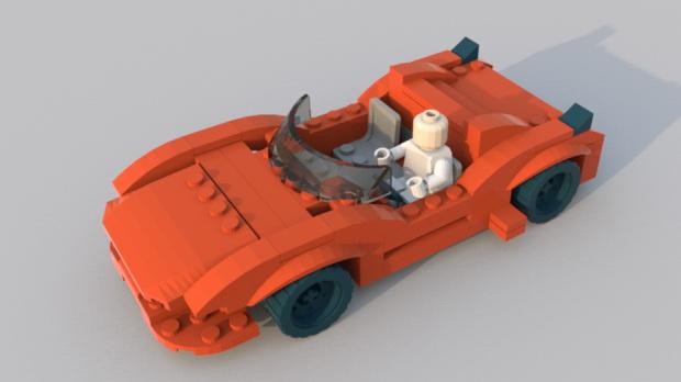 LEGO CAR 3d rendering