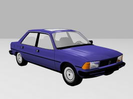 Classic Sedan Car 3d preview
