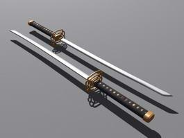 Katana Sword 3d model preview