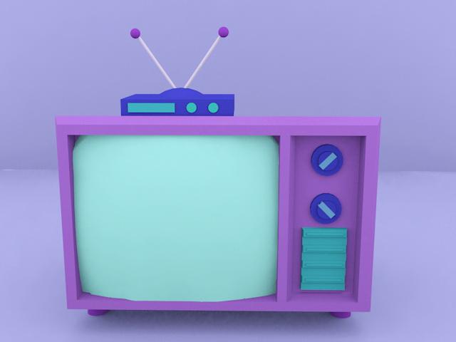 Cartoon TV Set 3d rendering