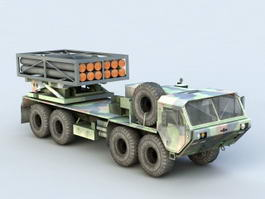 Mobile Missile Launcher Truck 3d preview