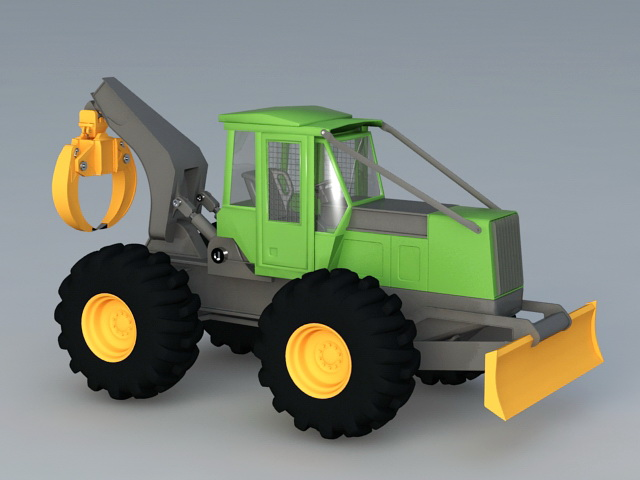 Construction Vehicle 3d rendering
