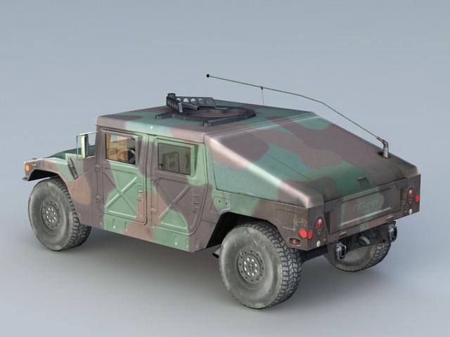 Humvee Military Vehicle 3d rendering