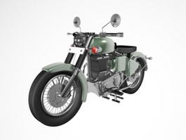 Vintage Motorcycle 3d model preview