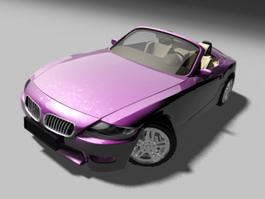 BMW Convertible Sports Car 3d preview