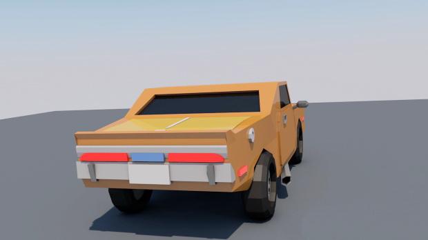 Cartoon Muscle Car 3d rendering