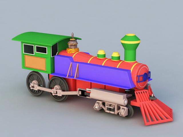 Cartoon Steam Engines Train 3d rendering