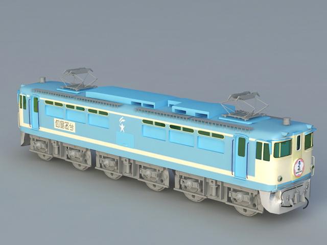 Japanese Train Locomotive 3d rendering