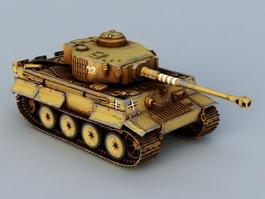 Panzerkampfwagen VI Ausf E 3d model preview