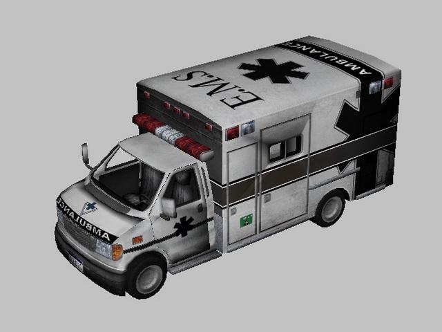 Ambulance Van 3d rendering