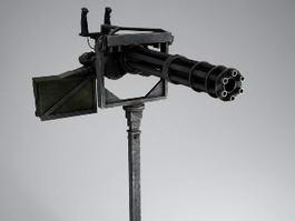 Minigun Machine Gun 3d preview