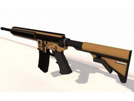 M4 Assault Rifle 3d model preview