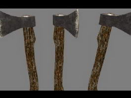 Wood Axe 3d preview