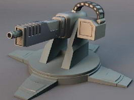 Heavy Machine Gun Turret 3d preview