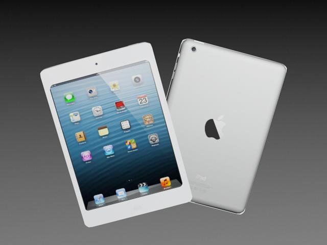 iPad Mini 3d rendering