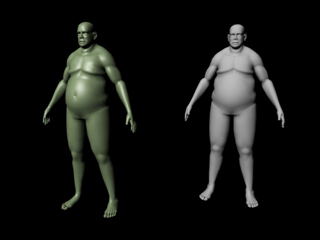 Fat Man 3d rendering