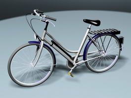 Classic Bicycle 3d model preview