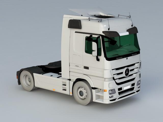 Mercedes-Benz Actros Cap Tractor 3d rendering