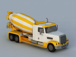 Concrete Mixing Truck 3d preview