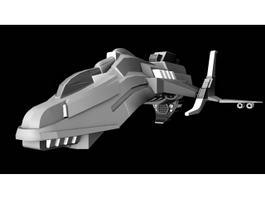 Sci-Fi Starfighter 3d model preview