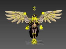 Harpy Warrior Rig 3d preview