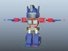 Classic Transformers Optimus Prime Rig 3d model preview