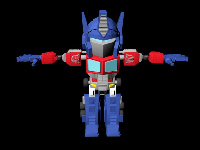 Classic Transformers Optimus Prime Rig 3d rendering