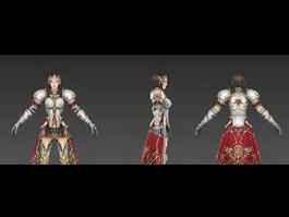 Medieval Female Knight Rigged 3d preview