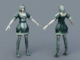 Medieval Servant Girl 3d preview