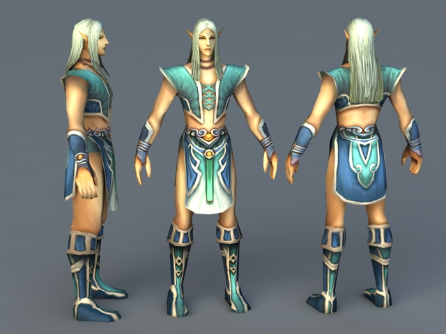 Young Male Elf 3d rendering