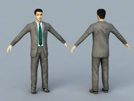 Young Businessman Rig 3d preview