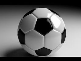Classic Soccer Ball 3d preview