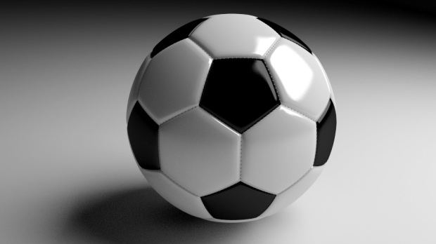 Classic Soccer Ball 3d rendering