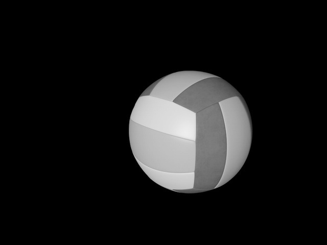 Colorful Volleyball Ball 3d rendering