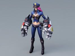 Caitlyn the Sheriff of Piltover 3d preview