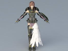 Final Fantasy XIII Lightning 3d preview