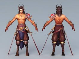 Ancient Barbarians Warrior 3d preview