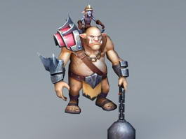 Orc Warrior 3d preview
