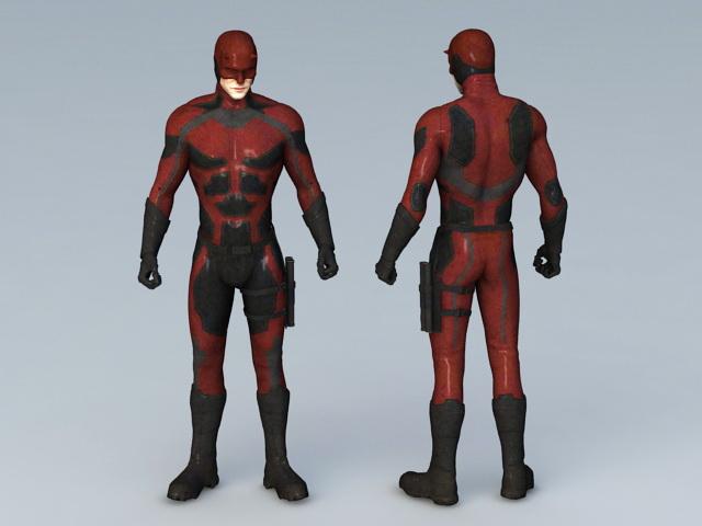 Daredevil Marvel Comics 3d rendering