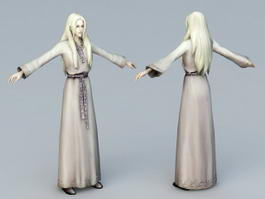 Medieval Lady 3d preview
