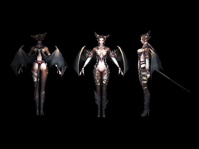 Beautiful Devil Girl 3d rendering