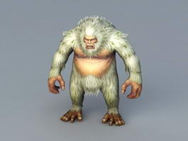 Gorilla Abominable Snowman 3d preview