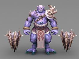 Ogre Warrior 3d preview